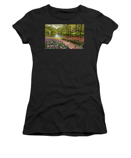 Women's T-Shirt featuring the painting Exuberance  by Rosario Piazza