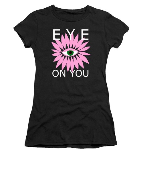 Eye On You - Black Women's T-Shirt (Athletic Fit)