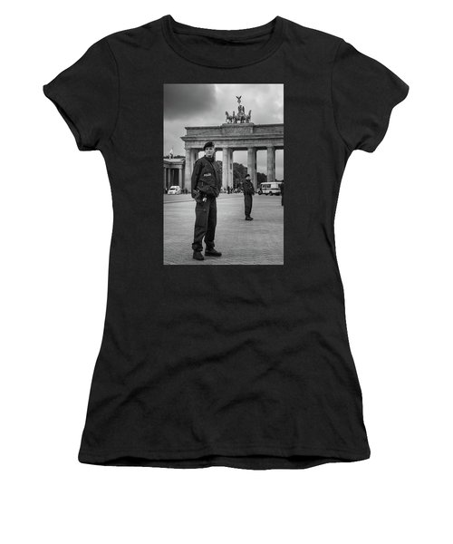 Women's T-Shirt (Athletic Fit) featuring the photograph Eyes Right by Geoff Smith