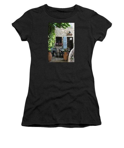 Eze Cobblestone Patio Women's T-Shirt (Junior Cut) by Carla Parris