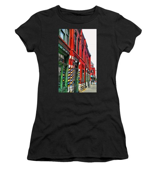 Facade Of Color Women's T-Shirt (Athletic Fit)