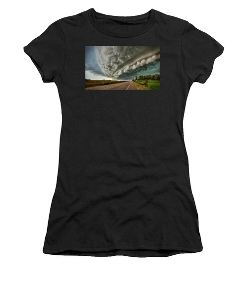 Face In The Storm Women's T-Shirt (Athletic Fit)