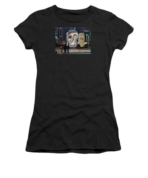 Faces Women's T-Shirt (Athletic Fit)