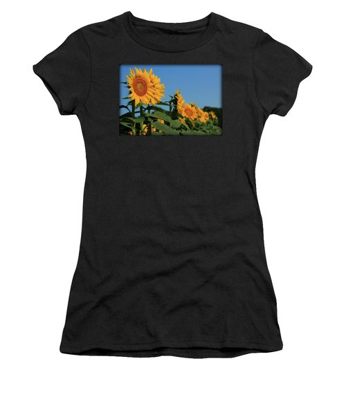Women's T-Shirt (Junior Cut) featuring the photograph Facing East by Chris Berry
