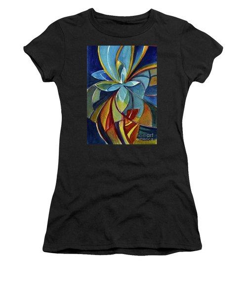 Fractal Flower Women's T-Shirt (Athletic Fit)