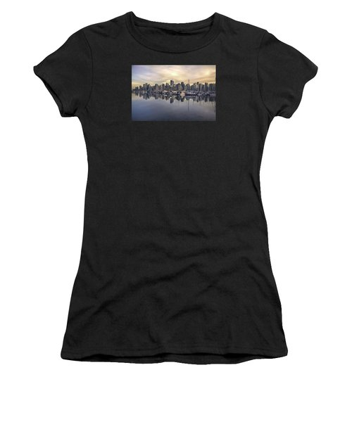 Fading Sun Over Downtown Vancouver Women's T-Shirt