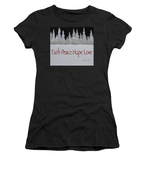 Faith, Peace, Hope, Love Women's T-Shirt (Athletic Fit)