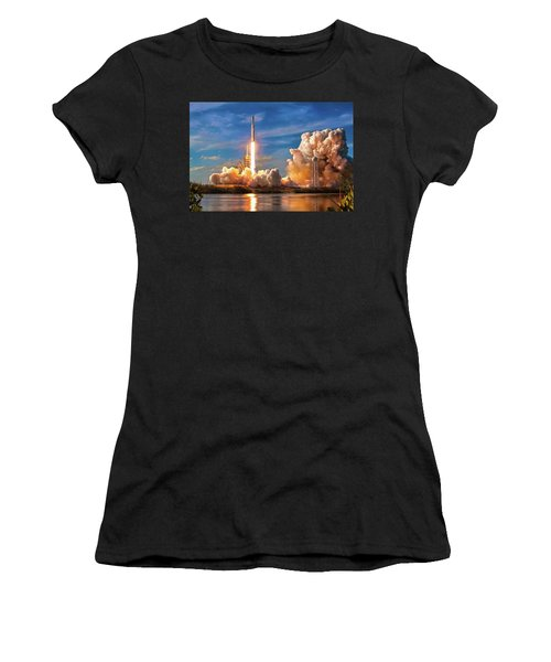 Women's T-Shirt featuring the photograph Falcon Heavy Rocket Launch Spacex by SpaceX