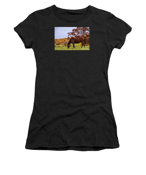 Fall And A Horse Women's T-Shirt (Athletic Fit)