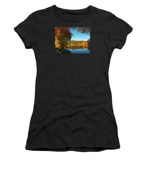 Fall At Johnson Pond Women's T-Shirt (Athletic Fit)