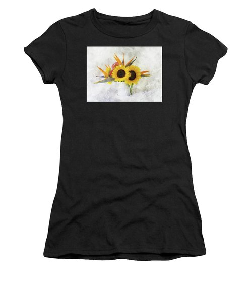Women's T-Shirt (Athletic Fit) featuring the digital art Fall Bouquet by Sue Collura