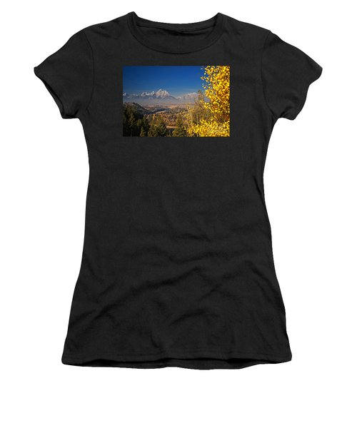 Fall Colors At The Snake River Overlook Women's T-Shirt (Athletic Fit)