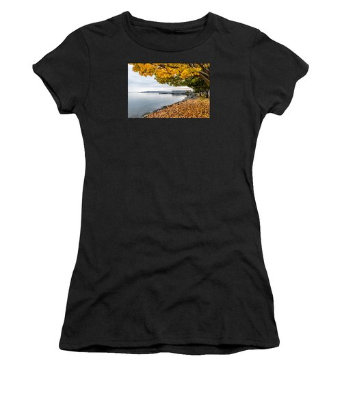 Fall Colors Framing Commencement Bay Women's T-Shirt (Athletic Fit)