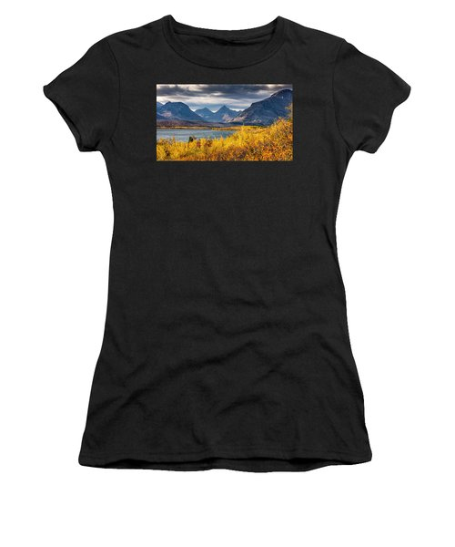 Fall Colors In Glacier National Park Women's T-Shirt