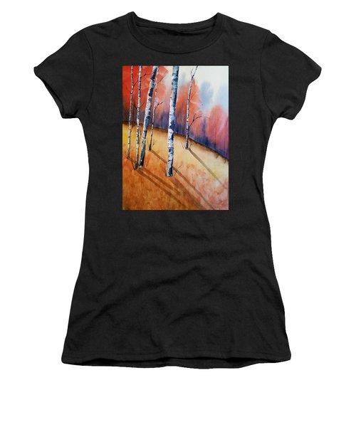 Fall In The Birches Women's T-Shirt