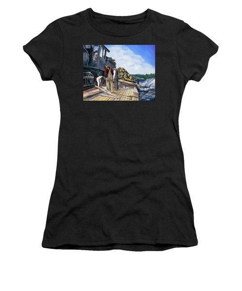 Fall Lake Train Women's T-Shirt (Athletic Fit)