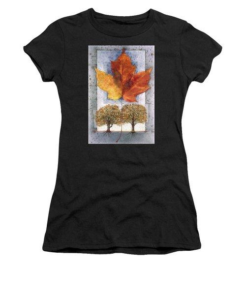 Fall Leaf Women's T-Shirt (Athletic Fit)