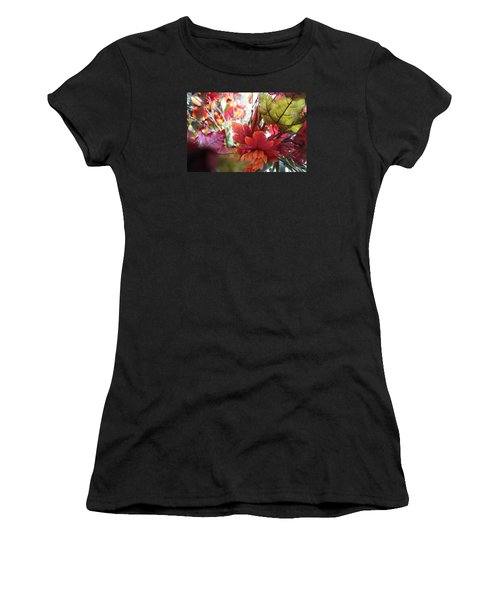 Fall Leaves Design 2 Women's T-Shirt (Athletic Fit)