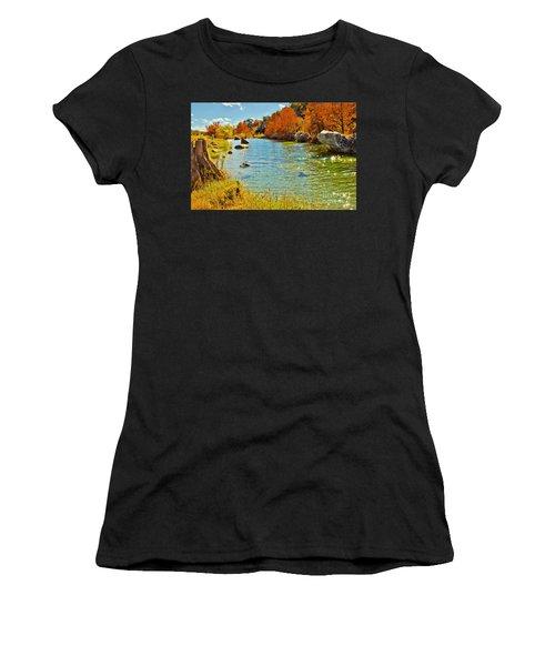 Fall On The Medina River Women's T-Shirt