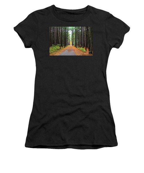 Fall Pines Road Women's T-Shirt