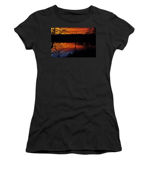 Fall Sunset Women's T-Shirt (Athletic Fit)