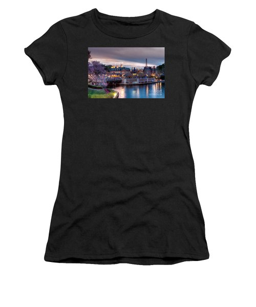 Fall Sunset Of France Women's T-Shirt (Athletic Fit)