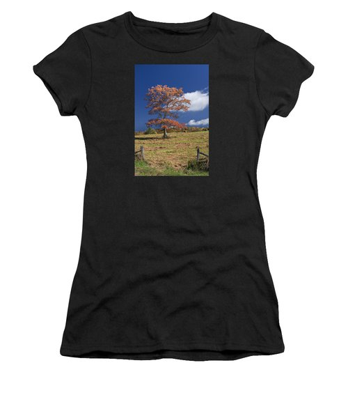 Fall Tree Women's T-Shirt (Athletic Fit)