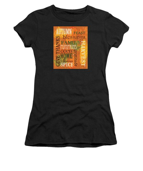 Fall Typography 1 Women's T-Shirt (Athletic Fit)