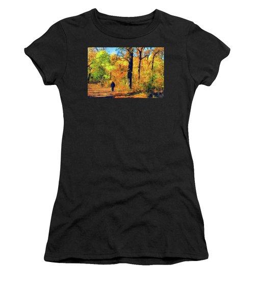 Fallen Leaves Women's T-Shirt (Athletic Fit)