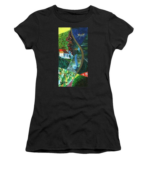 Falls, Fingers And Gorges Women's T-Shirt (Athletic Fit)
