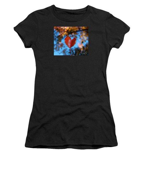 Fall's Heart Women's T-Shirt (Junior Cut) by Debra Thompson
