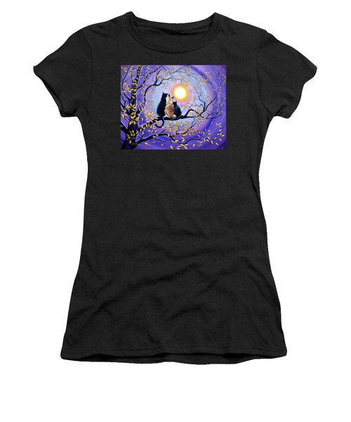 Family Moon Gazing Night Women's T-Shirt (Athletic Fit)