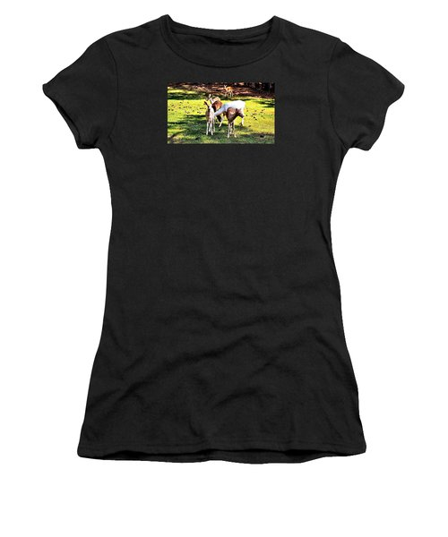 Family Of Deer Women's T-Shirt (Athletic Fit)