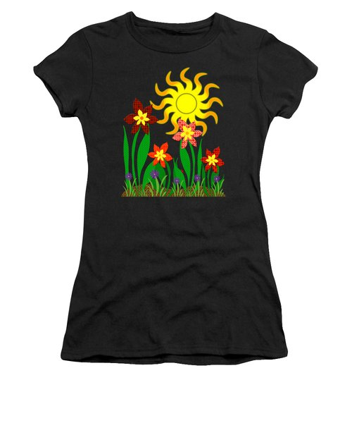 Fanciful Flowers Women's T-Shirt (Athletic Fit)
