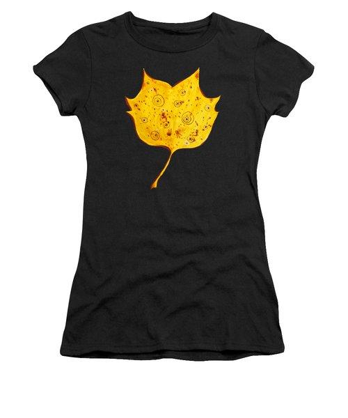 Fancy Yellow Autumn Leaf Women's T-Shirt