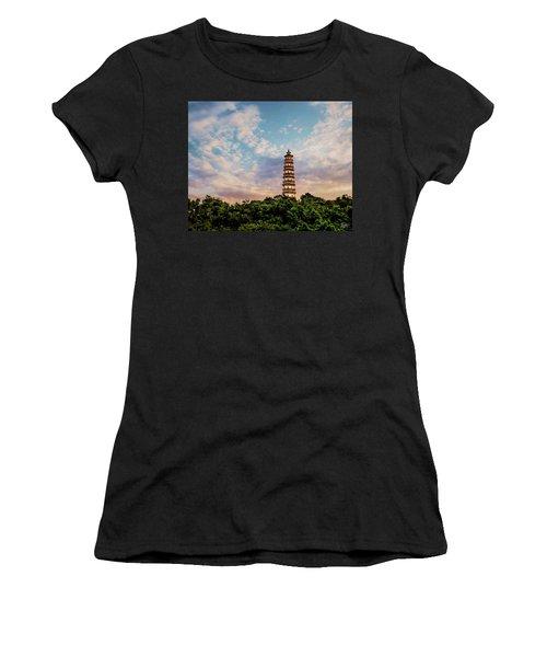 Far Distant Pagoda Women's T-Shirt