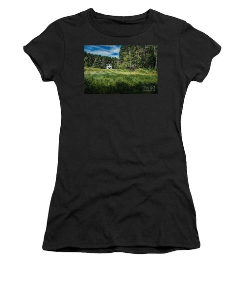 Farm In The Woods Women's T-Shirt