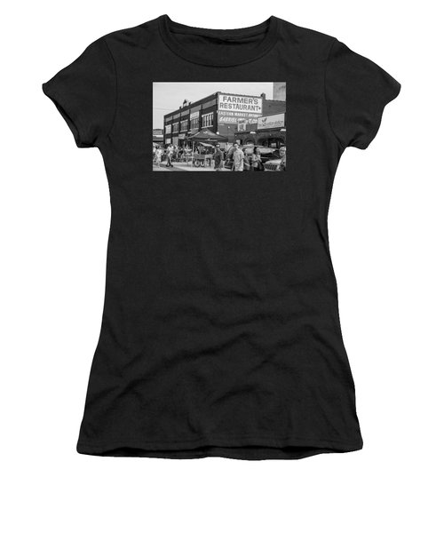 Farmers Restaurant In Detroit Black And White  Women's T-Shirt