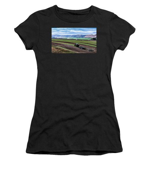 Farming In Pardise Agriculture Art By Kaylyn Franks Women's T-Shirt