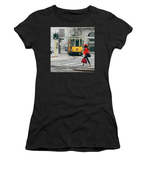 Fashionista In Milan, Italy Women's T-Shirt