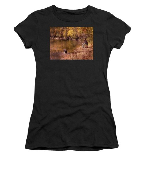Father,son And Dog Women's T-Shirt