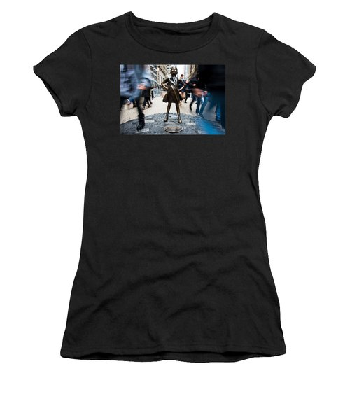 Fearless Girl Women's T-Shirt (Athletic Fit)