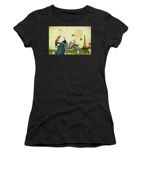 Feathered Friends In Paris, France Women's T-Shirt