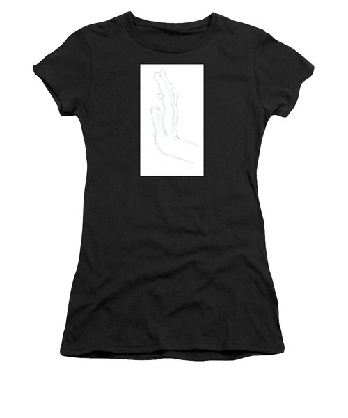 Feel The Force - Illustration Of A Hand Women's T-Shirt