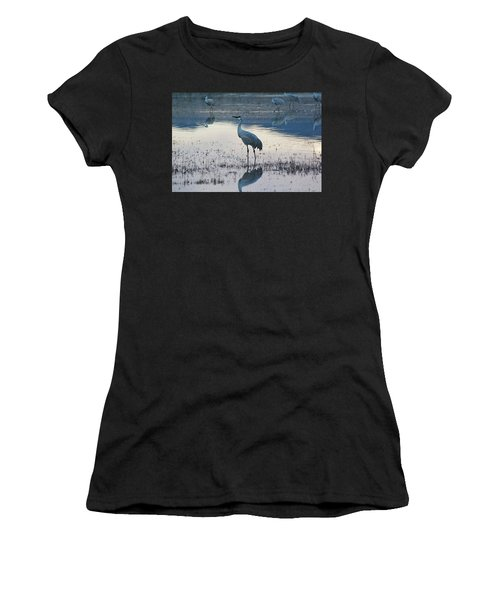 Women's T-Shirt featuring the pyrography Feeling Blue by Michael Lucarelli