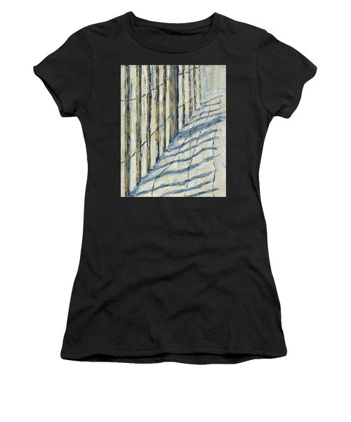 Women's T-Shirt featuring the painting Fence At Palmetto Dunes by Kathryn Riley Parker