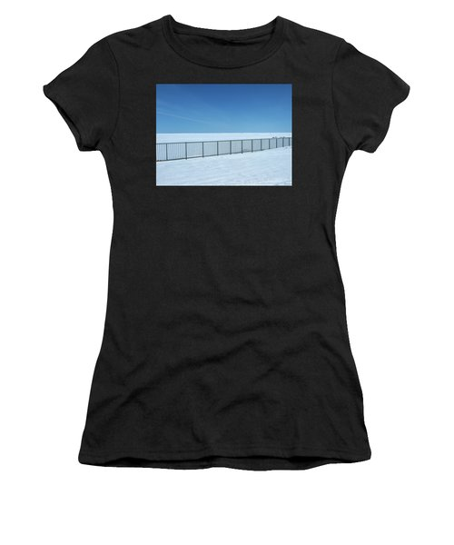Fence In Snow Women's T-Shirt
