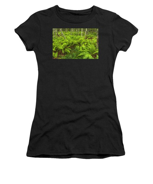 Ferns And Birch In Soft Light Women's T-Shirt (Athletic Fit)