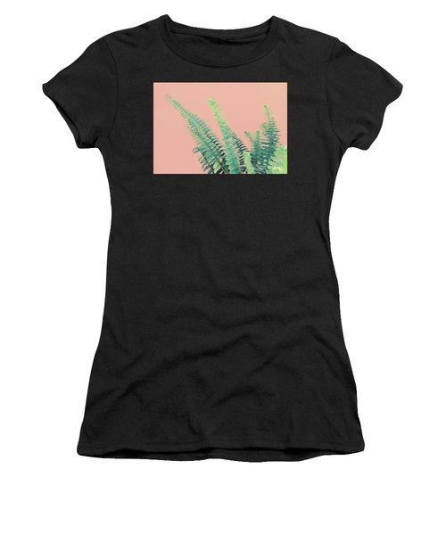 Ferns On Pink Women's T-Shirt