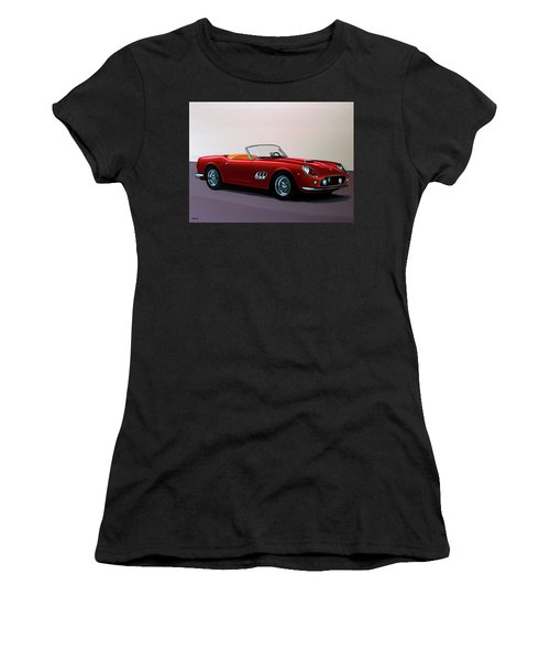 Ferrari 250 Gt California Spyder 1957 Painting Women's T-Shirt
